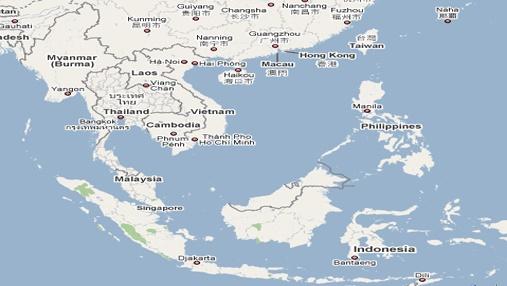 Vẽ lược đồ Đông Nam Á và điền tên thủ đô của từng nước trong khu vực này?