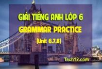 GRAMMAR PRACTICE (Unit 6,7,8)