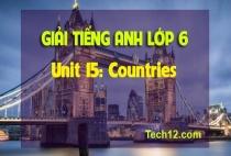 Unit 15: Countries