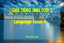 Language focus 1