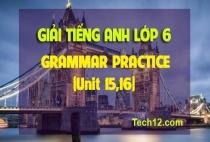 GRAMMAR PRACTICE (Unit 15,16)