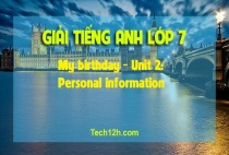 B - My birthday - Unit 2: Personal information