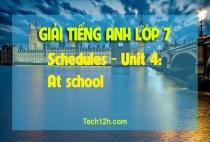 A - Schedules - Unit 4: At school