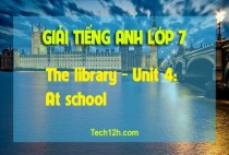 B - The library - Unit 4: At school
