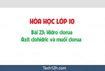 Giải bài 23: Hidro clorua - Axit clohidric và muối clorua