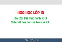 Giải bài 28: Bài thực hành số 3: Tính chất hóa học của brom và iot