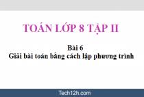 Giải bài 6: Giải bài toán bằng cách lập phương trình - sgk Toán 8 tập 2 trang 24