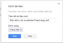 Hướng dẫn cách dịch tài liệu ngay trên Google Drive