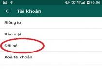 Hướng dẫn đổi số điện thoại trên Whatsapp Messenger