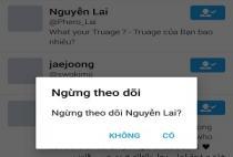 Cách ngừng theo dõi một ai đó trên Twitter