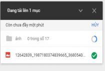 Hướng dẫn cách tải file ảnh, video lên Google Drive