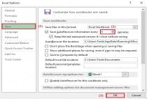 Cách thiết lập thời gian để Excel tự động lưu, tránh mất mát dữ liệu
