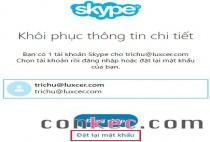 Cách thay đổi mật khẩu Skype khi bị quên