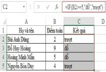 Cách sử dụng hàm IF trong Excel cùng ví dụ minh họa cụ thể