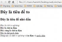 Học HTML- Các thẻ HTML định đạng văn bản [bài 3]