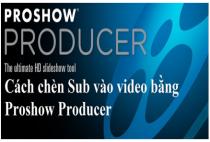 Cách chèn Sub, chèn chữ vào video trong Proshow Producer