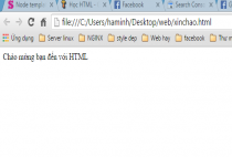 Học HTML – Viết chương trình HTML đầu tiên