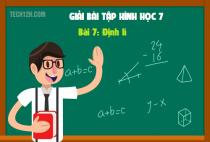 Bài 7: Định lí - Toán hình 7 tập 1