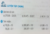 Giải bài luyện tập chung - sgk toán 5 trang 61