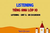 Listening - Unit 6: An excursion - Chuyến tham quan