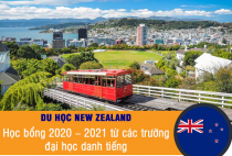 Học bổng New Zealand 2020-2021