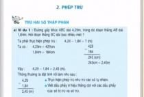 Giải bài Trừ hai số thập phân - sgk toán 5 trang 53
