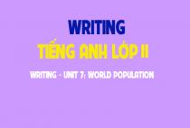 Writing - Unit 7: World poppulation - Dân số thế giới