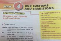 Getting started - Unit 4: Our customs and traditions