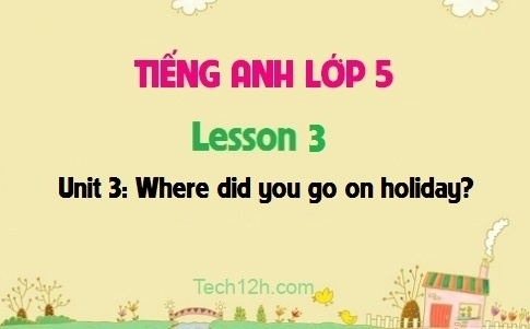 Unit 3: Where did you go on holiday? - Lesson 3