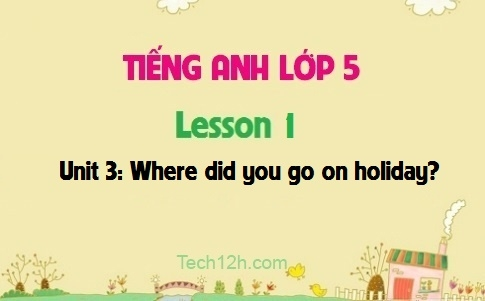 Unit 3: Where did you go on holiday? - Lesson 1
