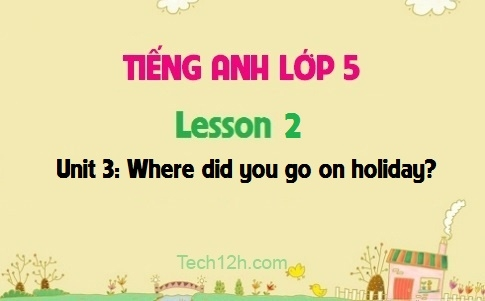 Unit 3: Where did you go on holiday? - Lesson 2