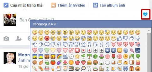 Cách cài đặt sticker cảm xúc và icon trên Facebook