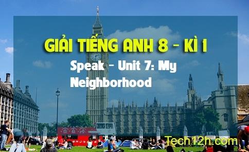 Speak - Unit 7: My neighborhood