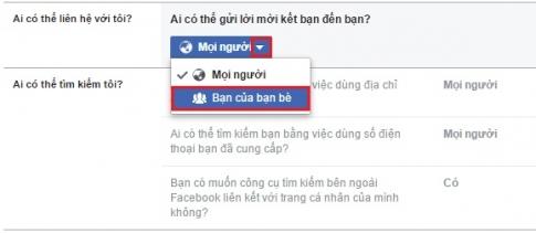 Facebook của một số người không có nút kết bạn, vì sao?