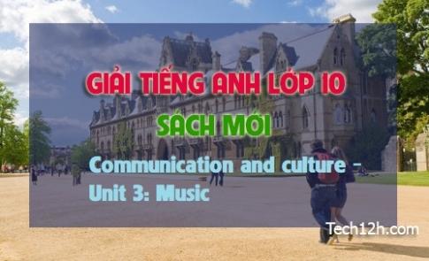 Communication and Culture - Unit 3: Music