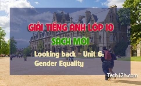 Looking back - Unit 6: Gender Equality