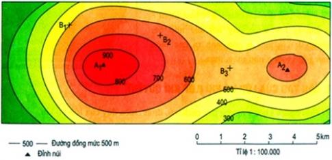 Bài 16: Thực hành đọc  bản đồ (hoặc lược đồ) địa hình tỉ lệ lớn – sgk Địa lí 6 trang 51