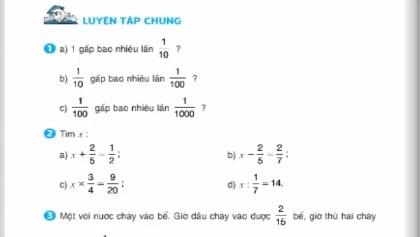 Giải bài luyện tập chung (tiếp) - sgk toán 5 trang 32
