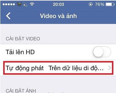 Cách tắt tính năng tự động phát Video (Auto-play Videos) trên Facebook