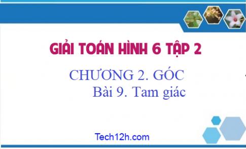 Giải Bài 9: Tam giác - sgk Toán 6 tập 2 Trang 93 - 95