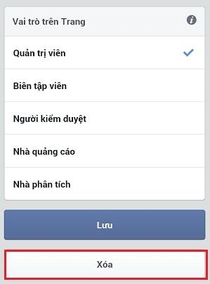 Cách thoát khỏi Fanpage Facebook khi bị người khác thêm vào làm quản trị bằng điện thoại