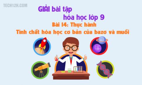 Giải bài 14 hóa học 9: Thực hành - Tính chất hóa học của bazơ và muối