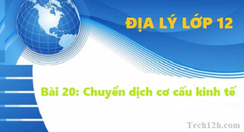 Bài 20: Chuyển dịch cơ cấu kinh tế - Địa lí 12 trang 82
