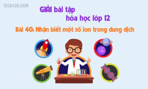 Bài 40: Nhận biết một số ion trong dung dịch