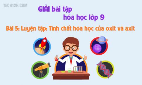 Giải bài 5 hóa học 9: Luyện tập - Tính chất hóa học của oxit và axit