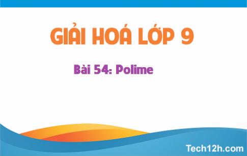 Giải bài 54 hóa học 9: Polime