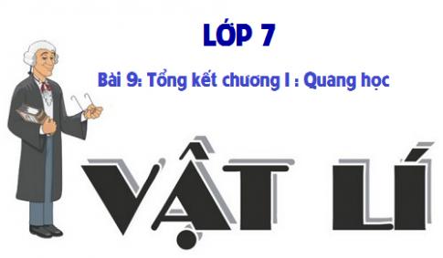 Giải bài 9 vật lí 7: Tổng kết chương I : Quang học
