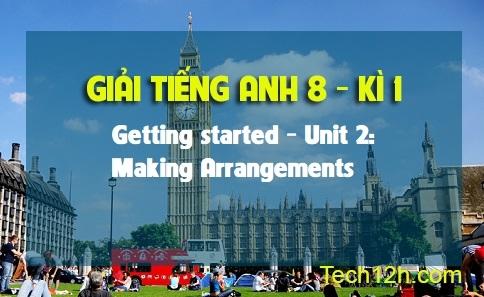 Getting started - Unit 2: Making Arrangements