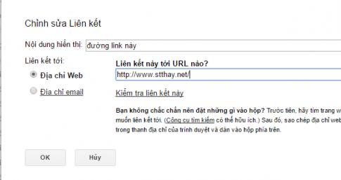 Cách chèn đường link vào nội dung thư gmail
