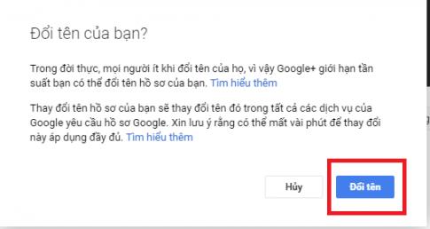 cách đổi tên cho toàn bộ các tài khoản Google
